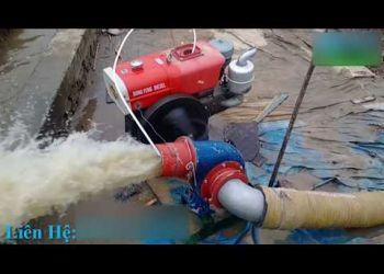 Máy bơm nước chạy dầu đầu nổ D15 cực khỏe -Máy thi công xây dựng